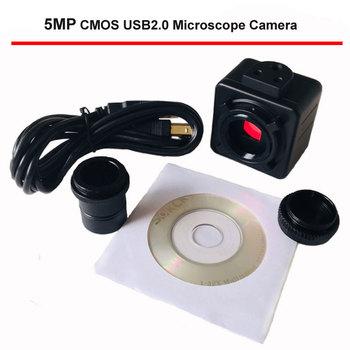 5MP CMOS USB mikroskopowa kamera cyfrowy okular elektroniczny bezpłatny sterownik wysokiej prędkości mikroskop biologiczny HD kamera przemysłowa tanie i dobre opinie ZZCAT 500X i Pod SX08 U2 5000K 0815 Microscope Camera Metal Wysokiej Rozdzielczości Handheld PORTABLE Lornetka Packed in Safety Export Standard Package