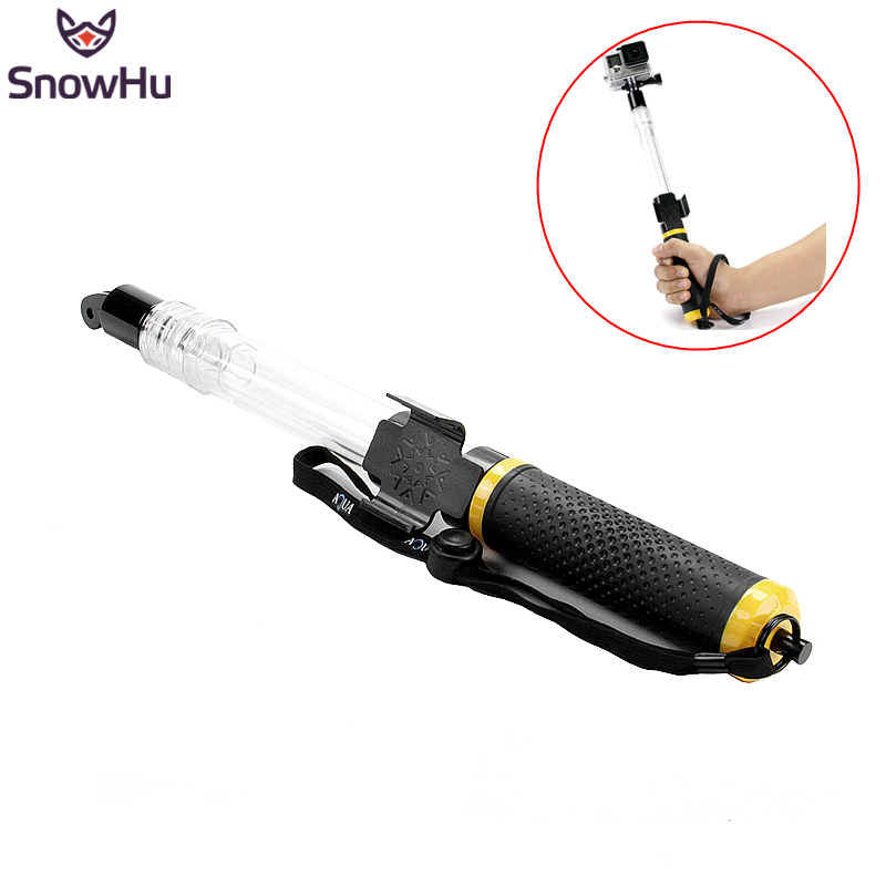 SnowHu For Floating Extension Pole 62cm Transparent Floaty Monopod With Remote Wifi Clip For Gopro Hero 6 5 4 3+ Xiaoyi GP246
