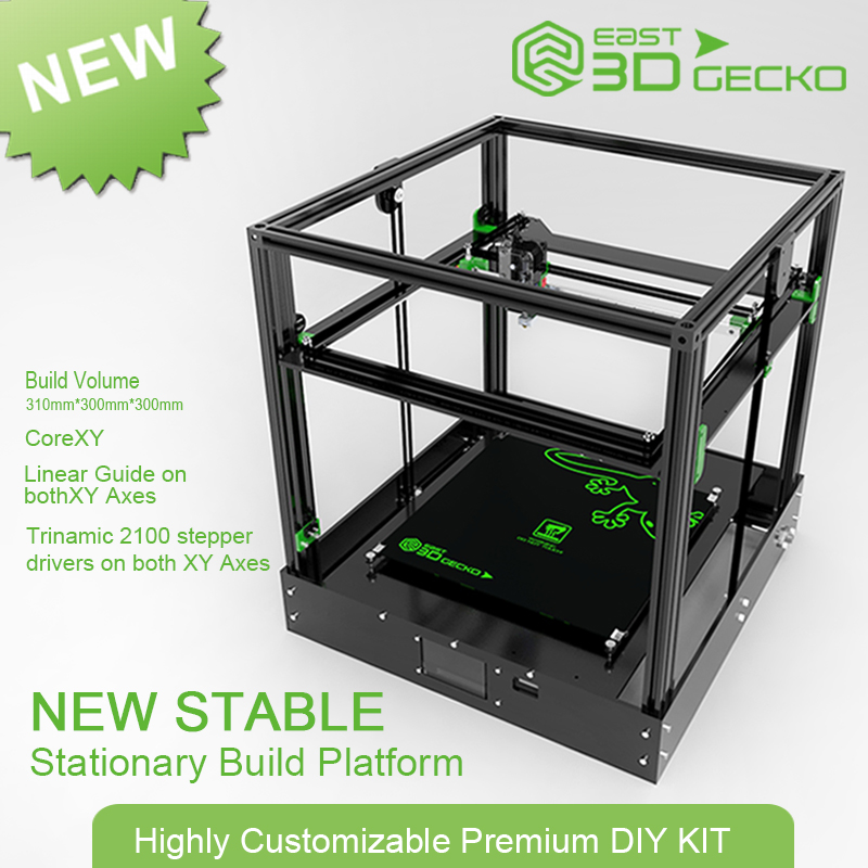 все цены на 2017 Micromake Newest 3D Printer East 3D Gecko Core XY Structure diy no hot bed онлайн