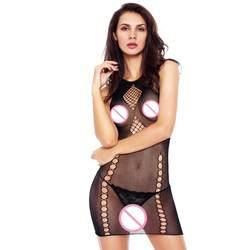 Hottable Сексуальное белье Горячая Прозрачный один размер Для женщин прямо ажурные Холтер Бесшовные Sheer Chevron сорочка Femme m310680