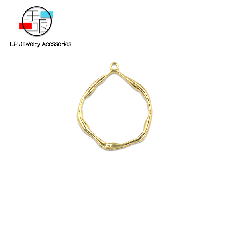 High-quality round process pendant hand made DIY jewelry assembly accessories findings earrings making 10pcs/lot