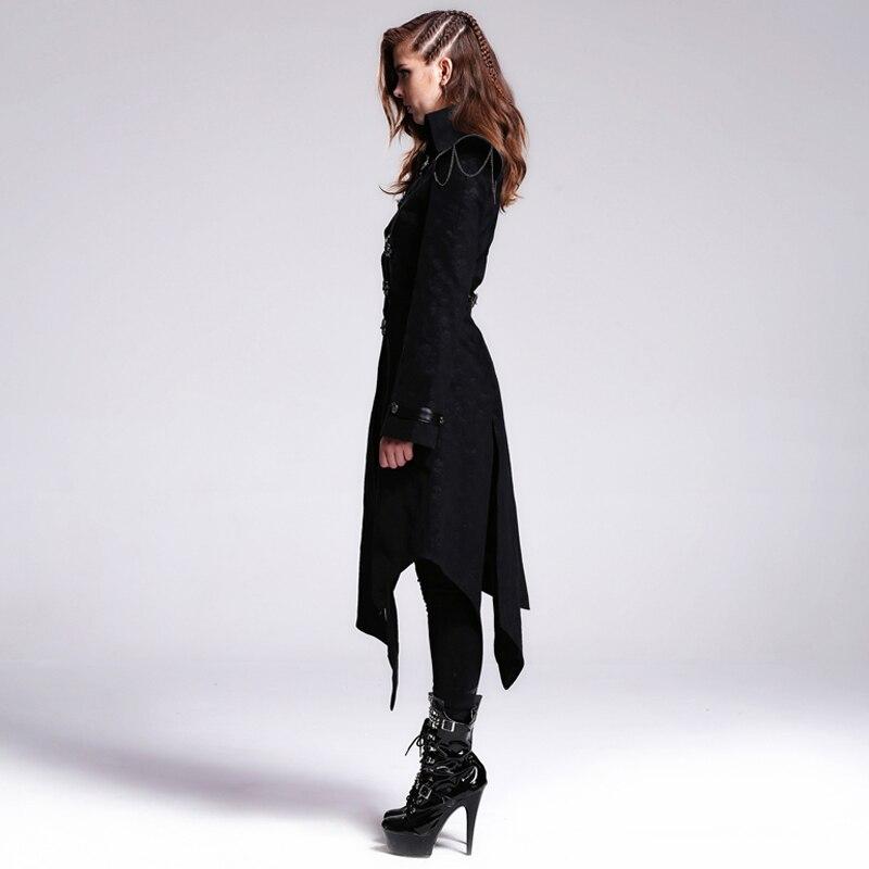 Devil Fashion Heavy Punk Rock Asymmetrische Langjacke Mäntel für - Damenbekleidung - Foto 2