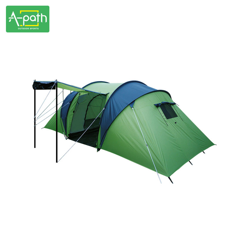 2018 4-6 Person Large Tents Outdoor Camping Professional Family Travel 2 Bedrooms & Living Room Waterproof Tent Tourist Party outdoor camping tent tourist big two bedrooms 4 season 4 person tents travel large family camping tent