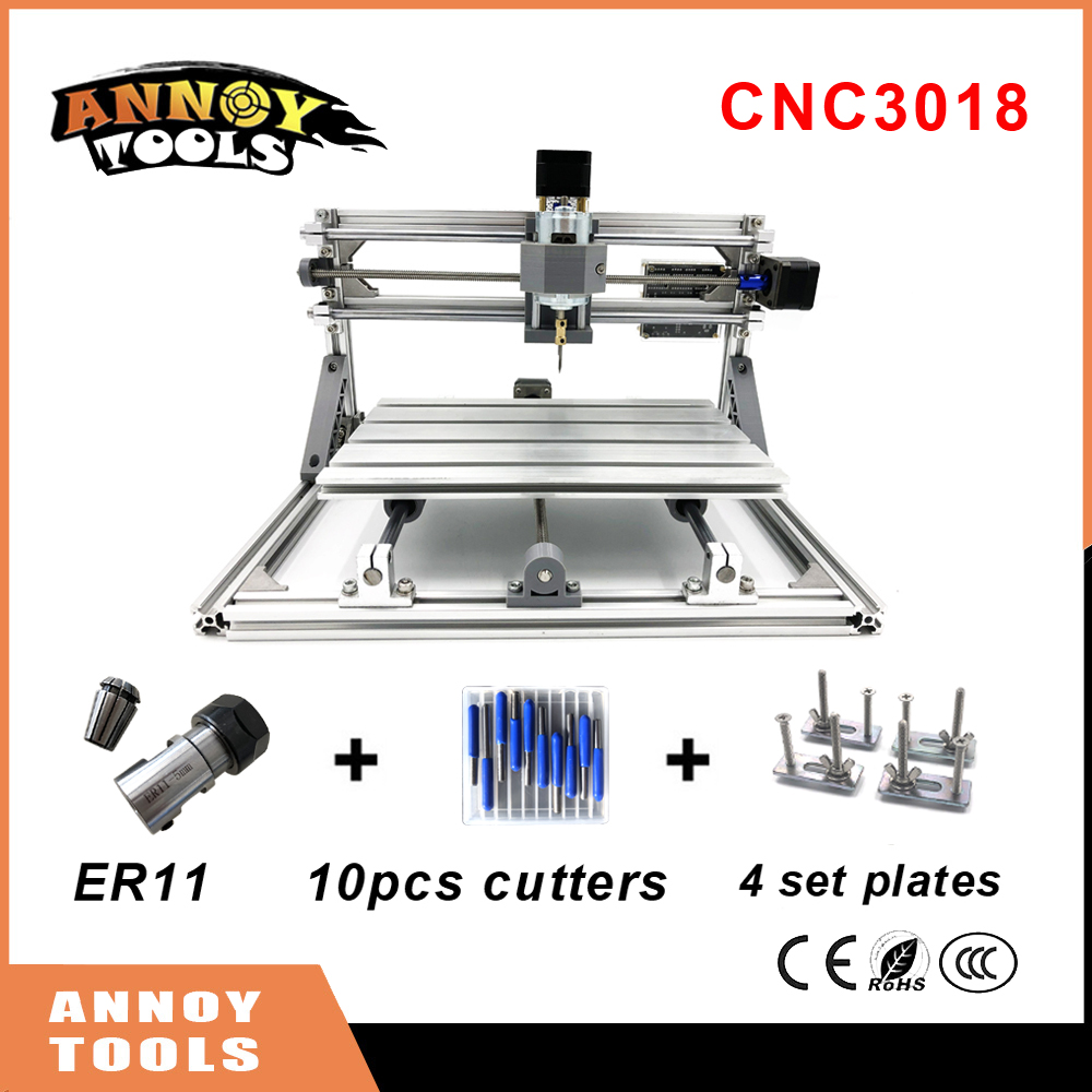 CNC 3018 mini diy CNC laser engraving machine 0.5W-5.5W laser, Pcb Milling Machine,Wood Carving machine,GRBL control CNC Router cnc 2418 with er11 cnc engraving machine pcb milling machine wood carving machine mini cnc router cnc2418 best advanced toys