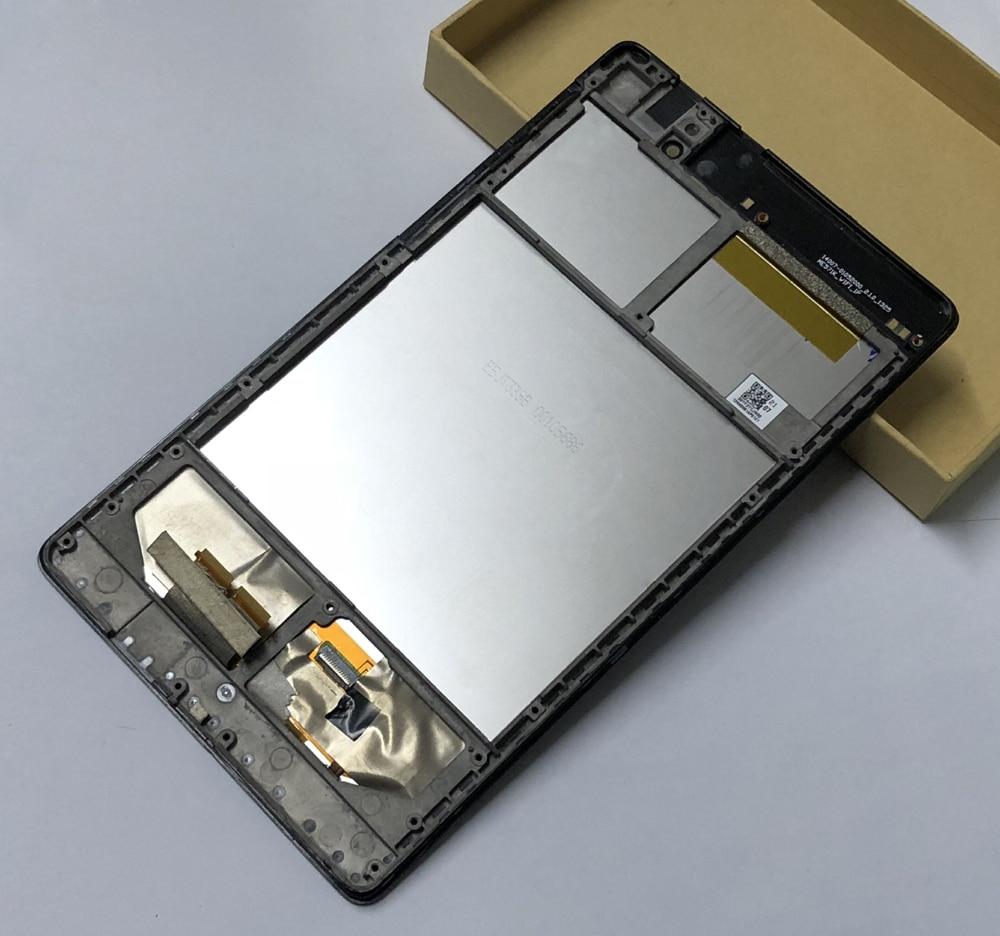 Pour ASUS Google Nexus 7 2nd gen 2013 ME570 ME571 ME571K Capteur Écran Tactile En Verre Digitizer + LCD Panneau D'affichage ensemble de moniteur