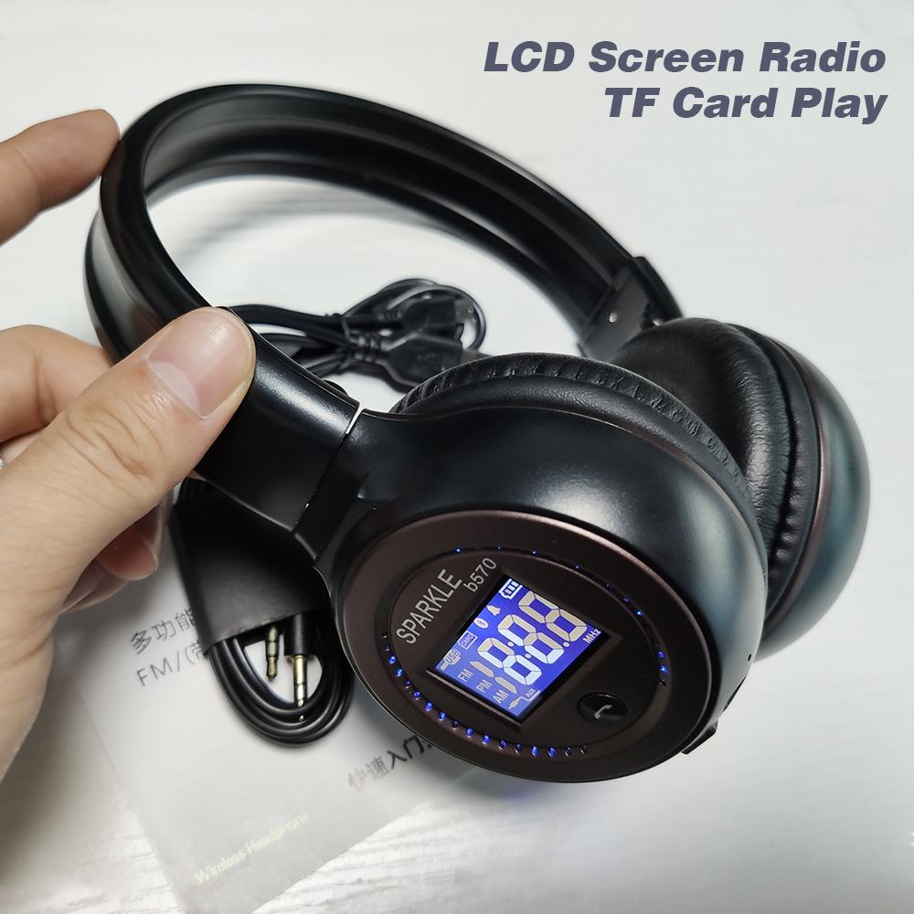 ZEALOT B570 HiFi Stereo Bluetooth Headphone Wireless Headset Foldable Support Micro SD Card AUX Microphone