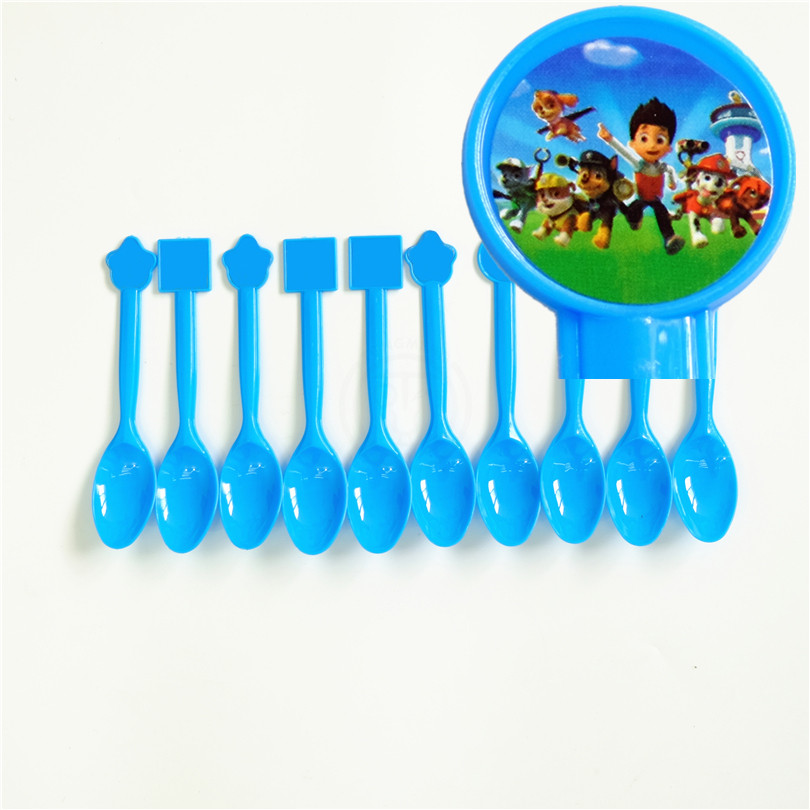 10pcs/lot Disposable Spoon Dog Ryder Chase Marshall Kids Birthday party supply event par ...