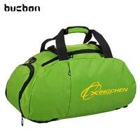 Bucbon Shoe Compartment Shoulder Gym Backpack Sports Bag For Men Women Training Fitness Bag Durable Nylon