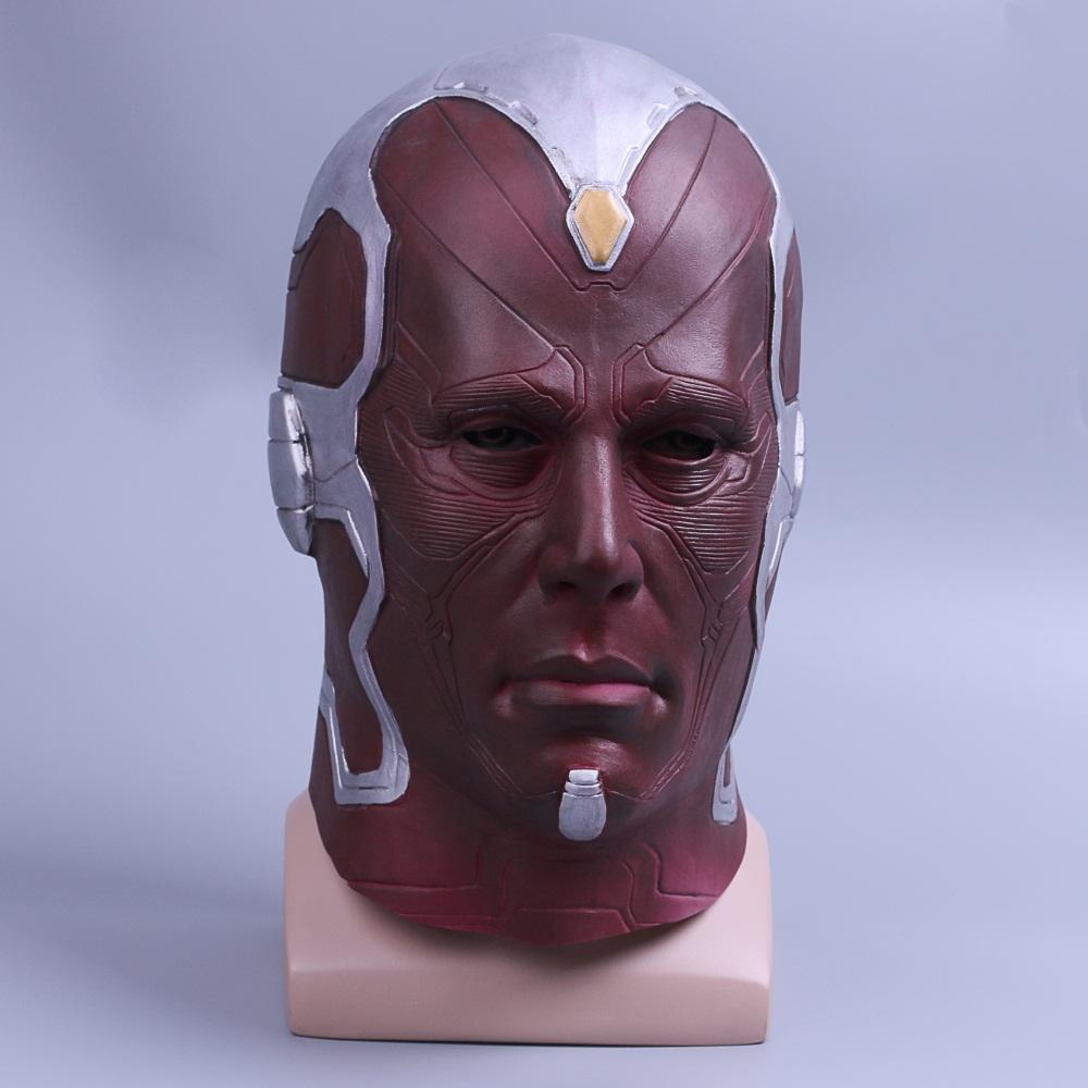 Cosplay Marvel Vision Mask Superhero Mask Full Head Halloween Helmet Latex New (4)
