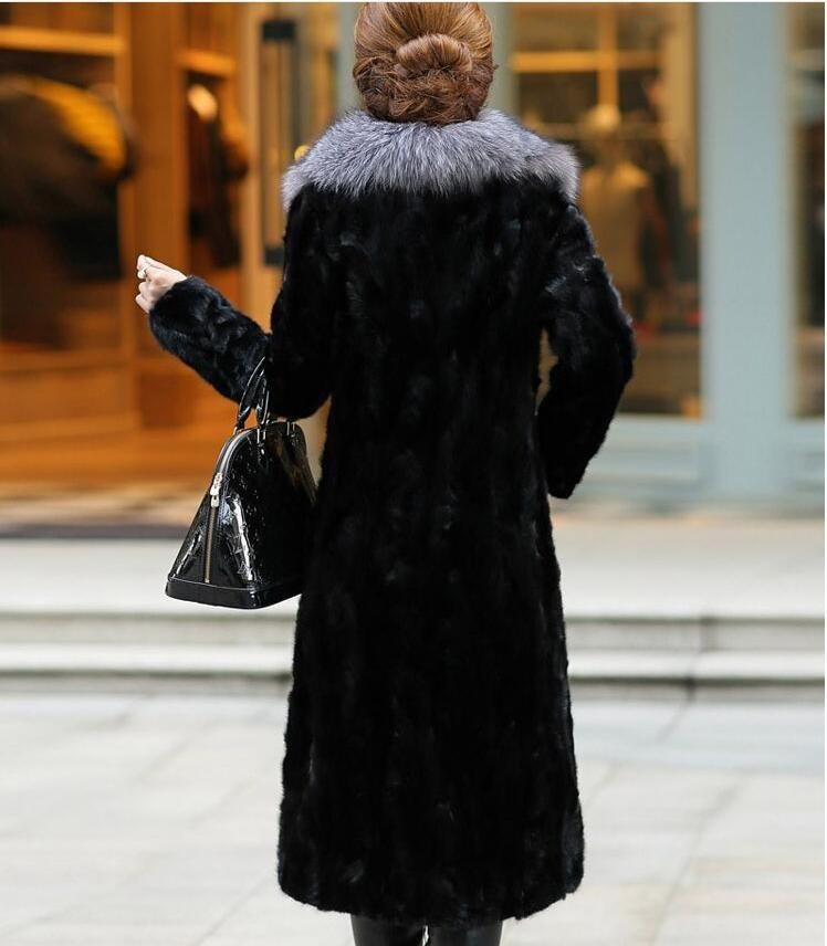 Nagymaros Longue D'hiver Épais Picture picture Nouvelles Manteau Col 2018 Color Color En Section Chaud Mode Fausse Femmes De Fourrure rrqz5wZ