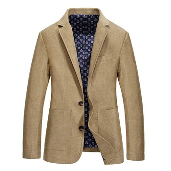 Fashion Casual Blazer Jacket Men Spring Autumn Slim Fit Mens Jacket And Coat Single Breasted With Pockets chaqueta hombre