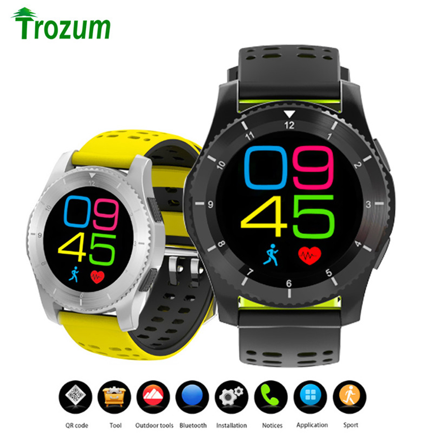 Smart Watch GS8 SIM Card Round Watch Phone Bluetooth Bracelet Pedometer Heart Rate Blood Pressure Sleep Monitor for IOS Android