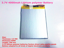 Size 3570100 3.7V 4000mah Lithium Tablet polymer battery with Protection Board For 7 inch Tablet PC Ainol Aurora