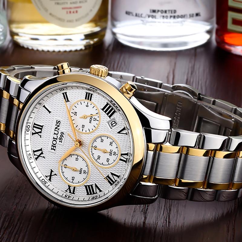 Holuns mens watches top brand luxury casual business men watch men quartz wristwatch relogio masculino erkek kol saati 2017