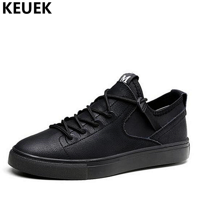 Spring Men Casual shoes Genuine leather Lace-Up Flats Soft Comfortable Male Loafers Brand Breathable Sneakers 01B the spring and summer men casual shoes men leather lace shoes soled breathable sneaker lightweight british black shoes men