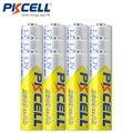 12 Pcs PKCELL Bateria AA 2A 2600 mAh 1.2 V AA Ni-MH Baterias Recarregáveis Da Bateria Baterias Bateria