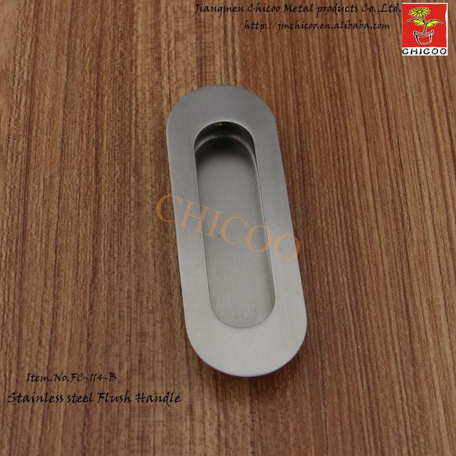 Online-Shop 10 stücke Oval Flush Einbau Pull Türgriff edelstahl 304 ...