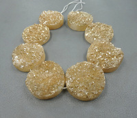 25mm Necklace Beautiful Champagne Titanium Square Druzy Stone Quartz Bead Pendants Top Drilled Drusy Slab Bead Jewlery