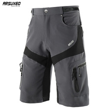 ARSUXEO Men's Outdoor Sports Cycling Shorts Downhill MTB Shorts Mountain Bike Bicycle Shorts Water Resistant Breathable 1806 arsuxeo men s outdoor sports cycling shorts downhill mtb shorts protective padded shorts for skiing snowboarding