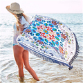 Elegante borla tapiz indio loto impresa toalla de playa manta de yoga