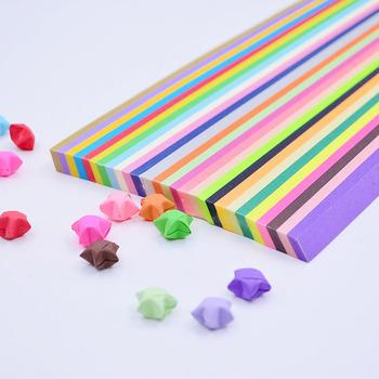 5 7 10 27 kolory mieszane kolor zestaw prace ręczne z papieru składane gwiazda na szczęście Origami papier ręcznie robiony domu karty diy prezent dekoracja rzemieślnicza tanie i dobre opinie news paper