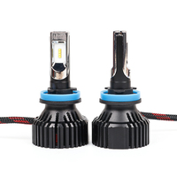 1 Set H8 H9 H11 60W 8000LM T8 LED Headlight LUMILED 2nd ZES Chips 16SMD Pure White 6500K All in one Automobile Driving Fog Bulbs