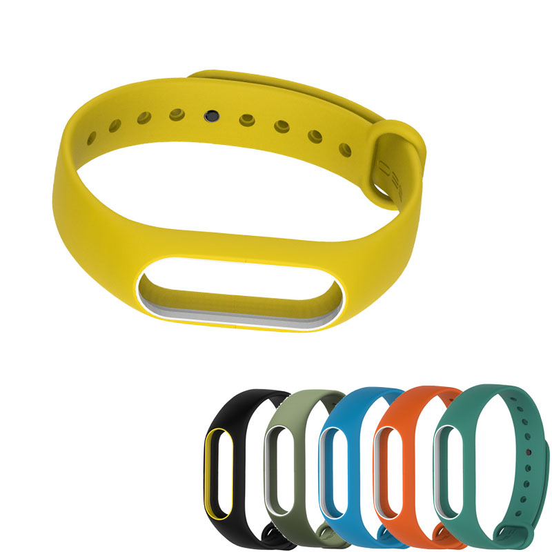 For Mi Band 2 Strap wrist strap for Xiaomi mi band 2 Silicone Miband 2 accessories Colorful pulsera correa Mi 2 replacement image