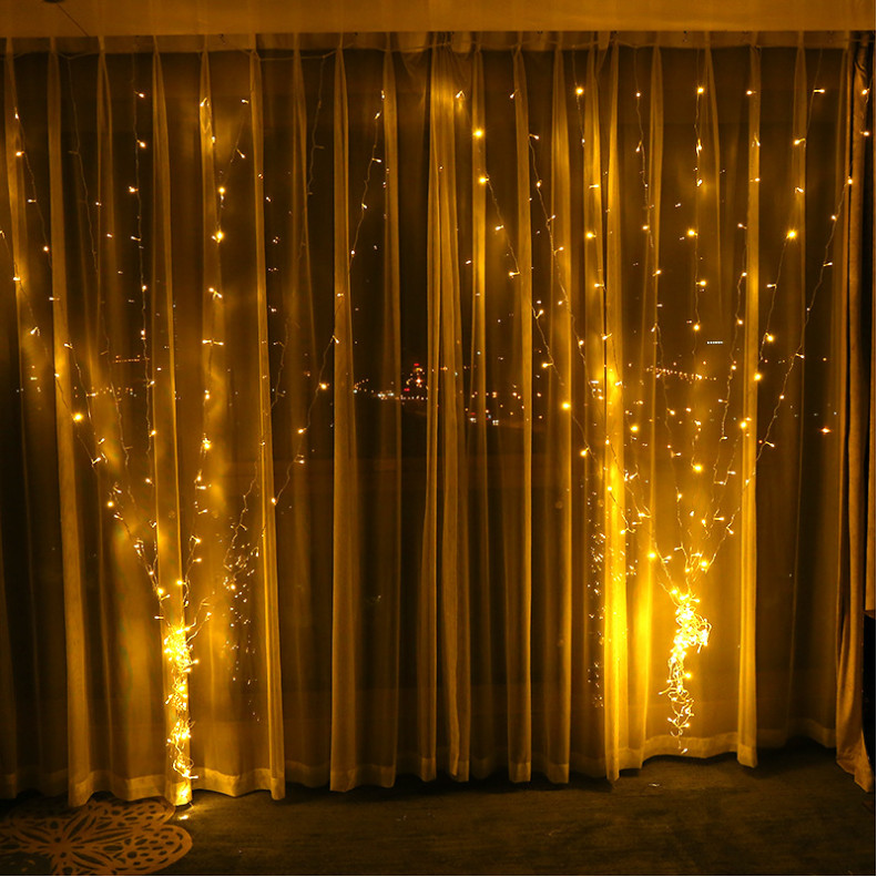 3x1/3x2/3x3m 300 LED Icicle String Lights Christmas Fairy Lights for Wedding home garden party decor