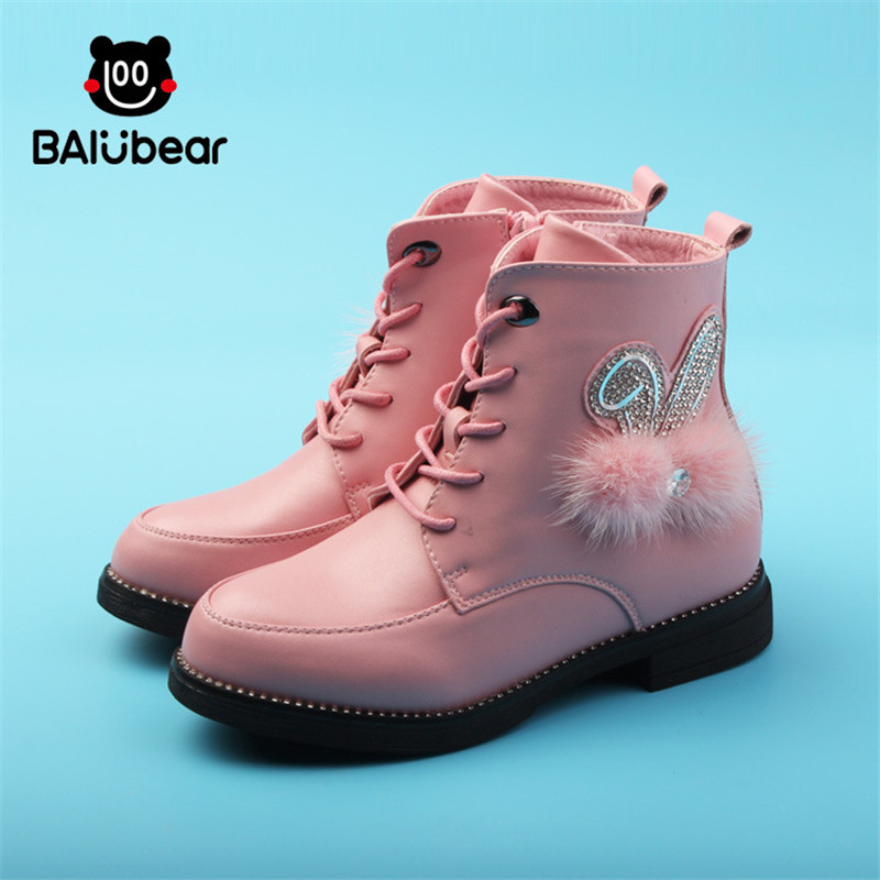 Girls Princess Boots 2017 new Winter high insulated girls snow boots children Sneakers Kids dermis leather boot for girls new 2015 botas infantil pu leather boys girls rubber boots for children martin boots kids snow boots sneakers hot item