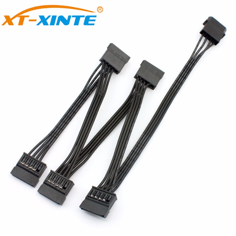 все цены на 4Pin Female IDE to SATA Power Cable for PC Computer SSD Server Hard Disk 1 to 5 Splitter Power Supply Adapter Converter Cord онлайн