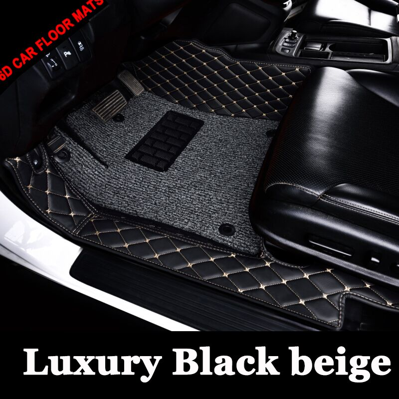 Custom fit car floor mats for Volkswagen Beetle CC Golf Passat Tiguan sharan 6D carpet floor liner