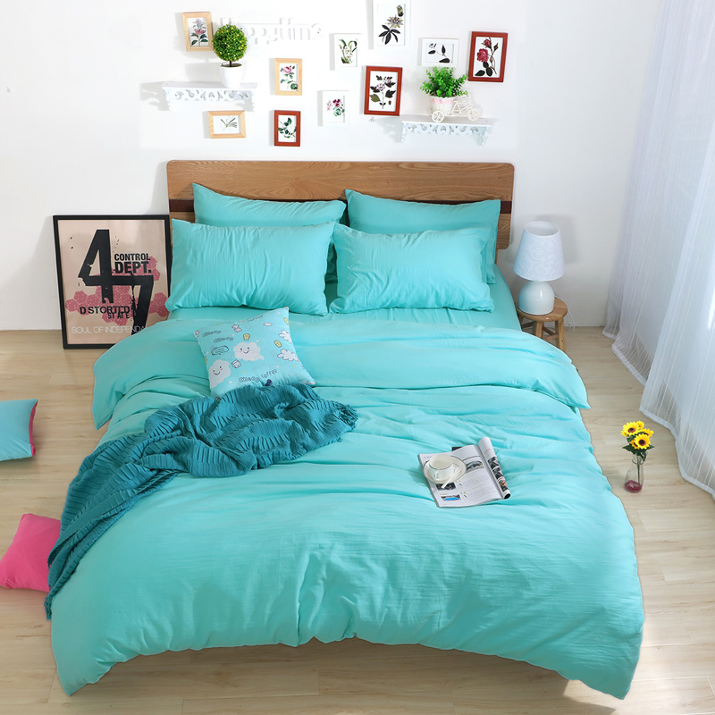 Online Get Cheap Solid Color King Size Comforter Set In Bedding - Blue solid color king size comforter