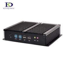 Безвентиляторный micro pc intel core i7 5550u до 3.0 ГГц 6 * com rs232 двойной hdmi + lan linux ubuntu mini pc