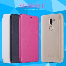 Xiaomi mi5s Plus Case NILLKIN Sparkle Super Thin Flip Leather Cases For Xiaomi mi5s mi 5s Plus Cover with Retail Package