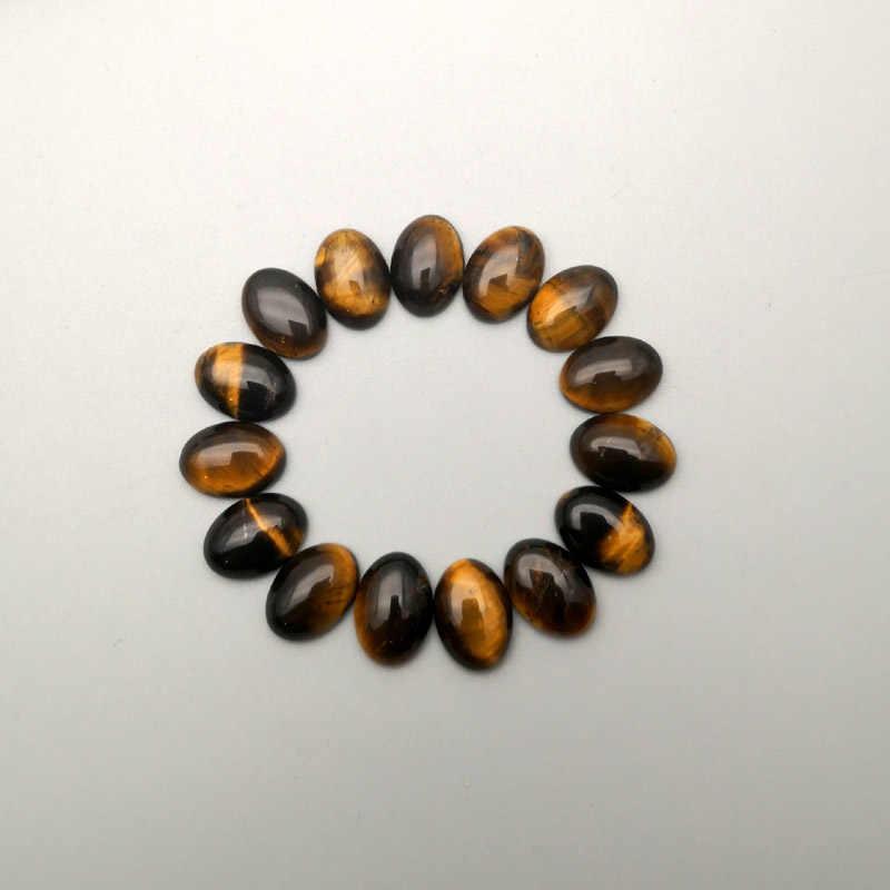 טבעי אבן 12-50 pcs טייגר העין קבושון 30x40 20x30 25x18 13x18 10x14mm חרוז עבור תכשיטי ביצוע לא חור שרשרת אביזרים