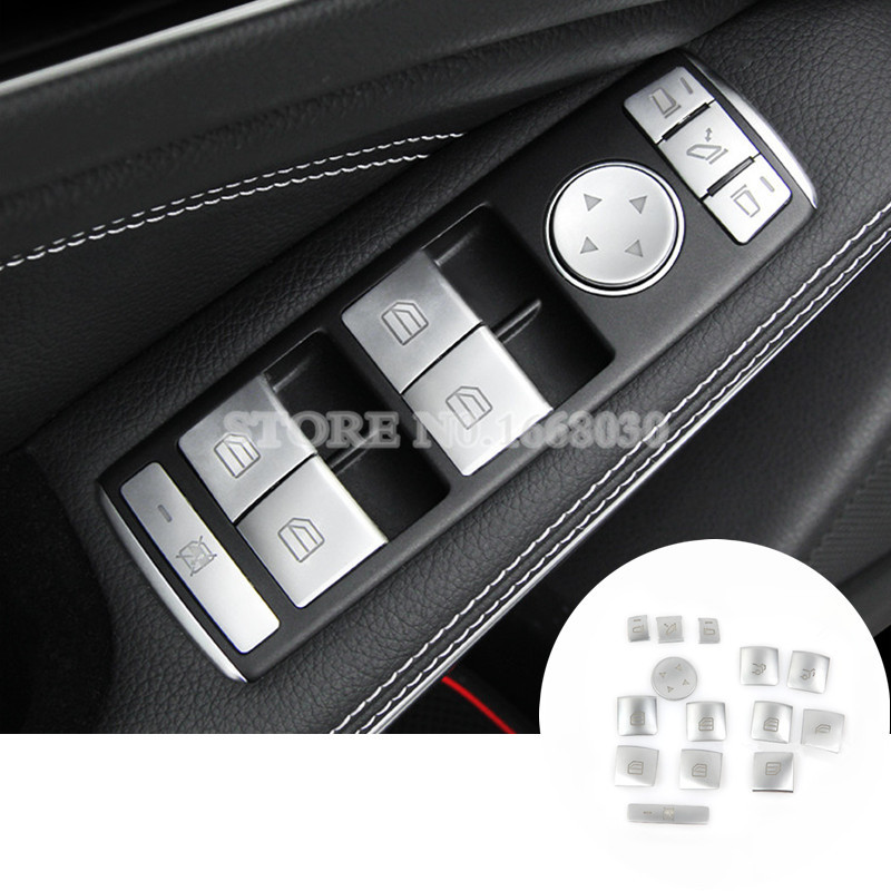 Inner Window Switch Button Cover For Benz A-Class W176 2013-2015 B-Class W246 2012-2015