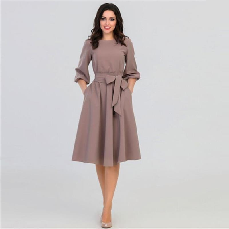Women Autumn O Neck Dress 2018 Summer Women 39 s Elegant Vintage Bohemian Beach Dresses Casual Loose Dresses Vestidos in Dresses from Women 39 s Clothing