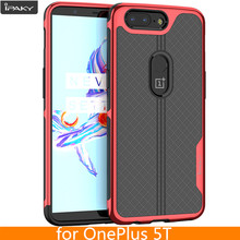 For OnePlus 5T Case Original iPaky Brand Armor Electroplated Bumper TPU Hybrid Transparent Coque Shockproof Case for OnePlus 5T(China)