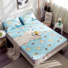 3 PCS Cooling Bed Mattress With Pillowcase Bedspreads Covers Fitted Sheet Sets Gel For King Size Queen