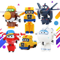 13styles Newest Super Wings Toys Mini Planes 7cm Transformation Robot Action Figures Toys Baby Toys For