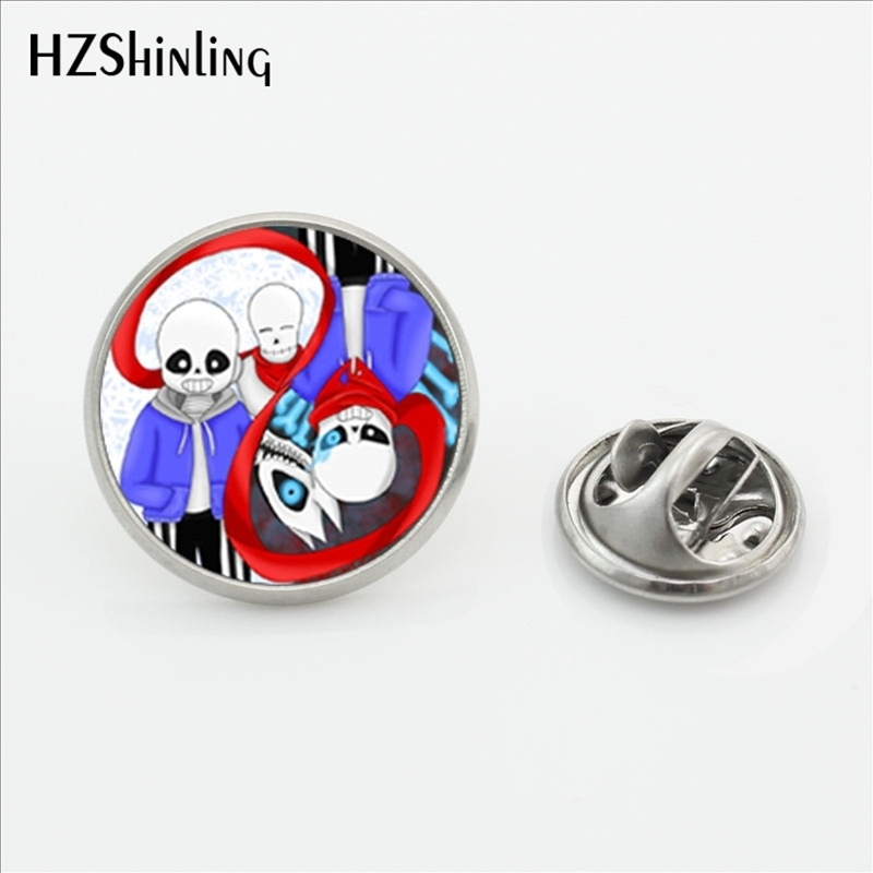 2017 New Arrival Yinyang Video Game Lapel Pins Steampunk Round Glass Dome Gamer Gaming Butterfly Stainless Steel Clasp Pin