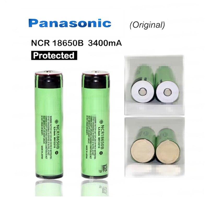 Новый защищенный оригинальный Panasonic 18650 NCR18650B 3,7 в 3400 мАч перезаряжаемые литий-ионные аккумуляторы с печатной платой