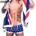 Новый 2017 Дышащая мужская Боксер Underwear Sexy Underwear Мужчины Хлопок Печати Мужские Боди Underwear
