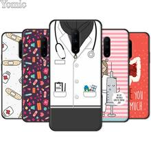 Soft Phone Case Shell for Oneplus 7 7 Pro 6 6T 5T Black Case for Oneplus 7 7Pro Silicone Cover Nurse Medical Medicine