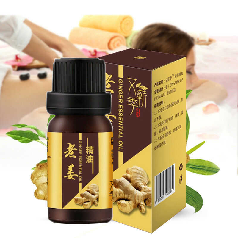 Aceite esencial para la pérdida de peso de jengibre salvaje, cremas de jengibre para adelgazar en Chile, cremas para la cintura delgada del cuerpo y el cuello para un masaje relajante efectivo TSLM1