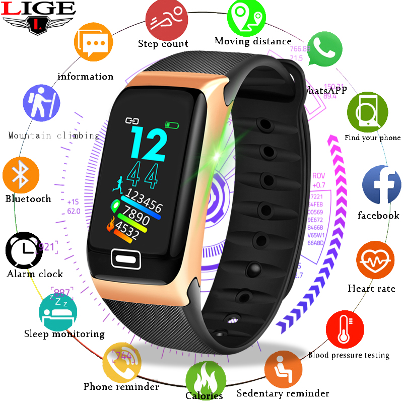 Watches Reasonable 2019 Lige Smart Wrist Sport Bracelet Led Color Screen Wristband Heart Rate Monitor Pedometer Smart Watch For Android Ios Relogio