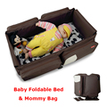 Bolsa de Cochecito de bebé Pañal Atención Al Aire Libre/de Maternidad Bolsas de Pañales de Bebé Plegable Cama Móvil Bolsas de mensajero hombro de Las Mujeres 2016