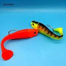 Hoofish 1 шт./лот привести голову мягкая рыба 300 г/18 см 2 цвета один крюк Т хвост приманки рыболовные снасти
