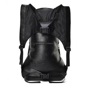 Image 5 - 大容量男性復元 3D クールライオンバックパックゴシックエンボスバッグ革 3D ショルダーバッグとフード旅行バックパック