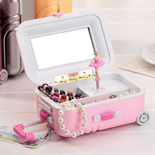 Suitcase Style Music Box Jewelry Storage Box